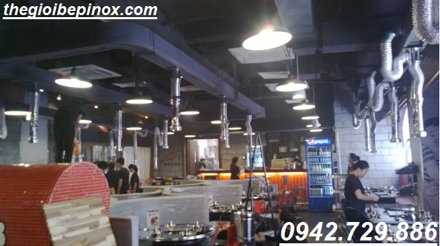 Nhận cung cấp thi công hệ thống hút khói dương nhà hàng lẩu nướng giá rẻ