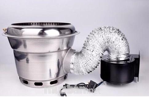 Ống mềm bạc hút khói mùi và khí nóng bếp hút âm