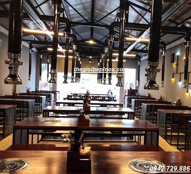 Nhận thi công hệ thống hút khói mùi bếp lẩu nướng giá rẻ tại Hà nội