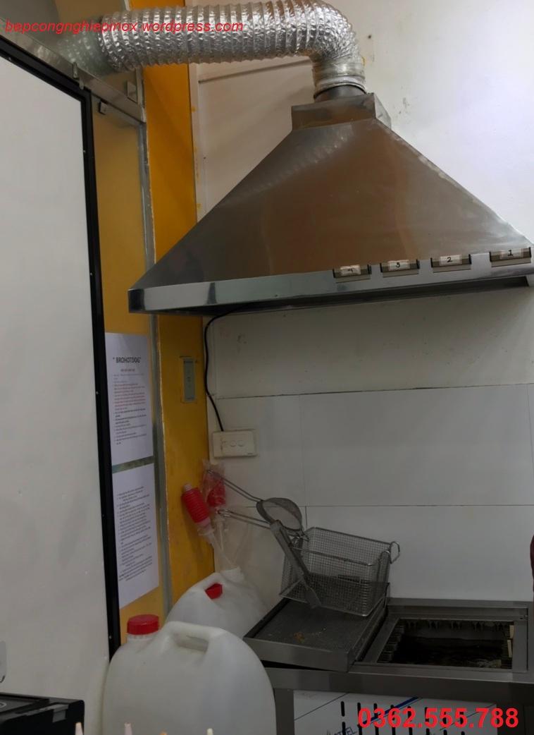 Hệ thống hút khói mùi bếp gi đình, nhà hàng dùng quạt hút mùi nối ống
