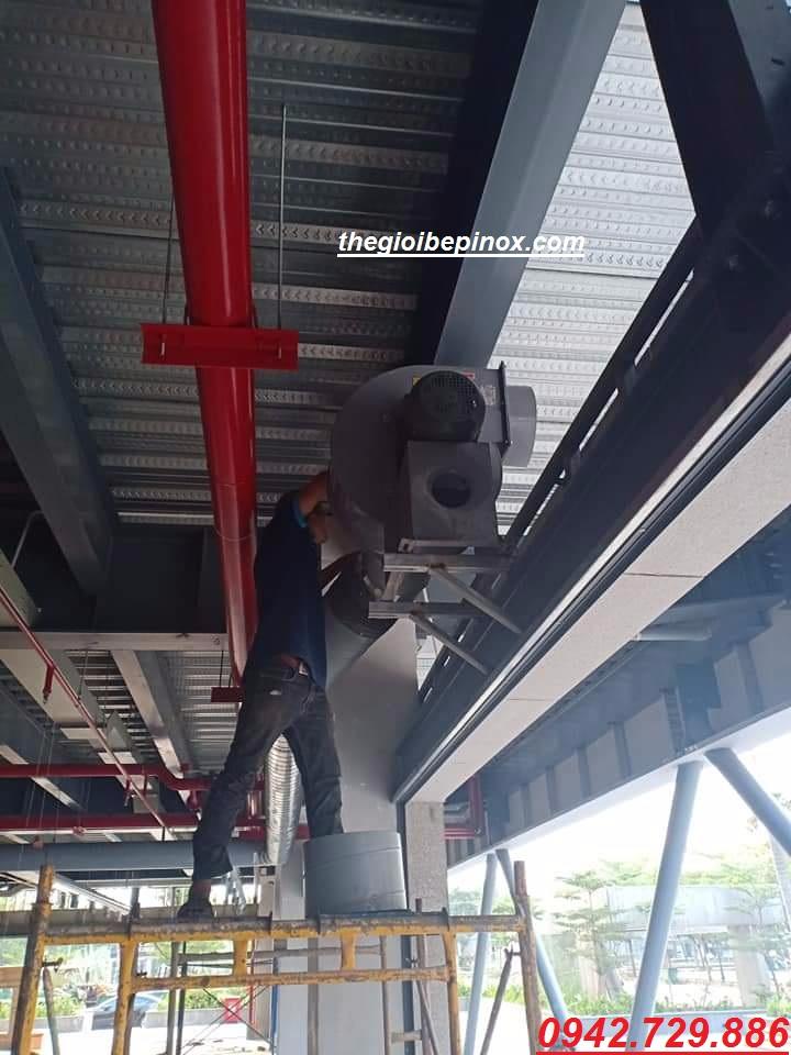 Lắp đặt hệ thống hút khói mùi nhà hàng lẩu nướng tại Hà Nội