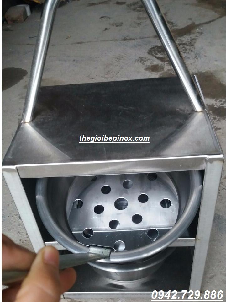 Xách lòng trong bếp nướng than không khói giá rẻ LH 0942.729.886 I giỏ xách chõ than nướng bếp nướng