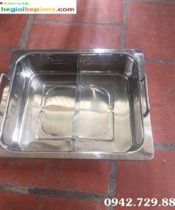 Nồi lẩu 2 ngăn bằng Inox cho nhà hàng chuyên lẩu chất lượng