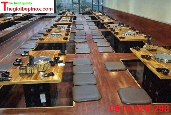 Giá thi công lắp dặt bếp nướng hút khói âm nhà hàng tại Hà Nội