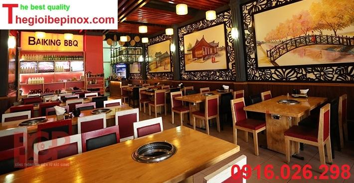 Chi phí thi công lắp đặt hệ thống hút khói âm nhà hàng lẩu nướng tại Hà Nội