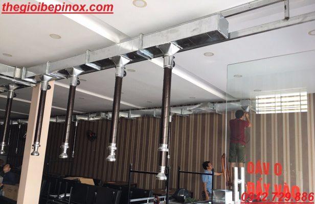 Lắp đặt hệ thống hút khói bếp nướng than tại bàn giá rẻ tại Hà Nội