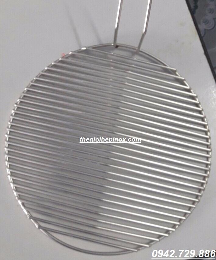 Vỉ nướng song ngang có tay cầm bếp nướng than không khói Hàn Quốc