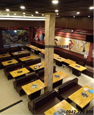 Nhà hàng lẩu nướng BBQ không khói hút khói âm sàn Hàn Quốc
