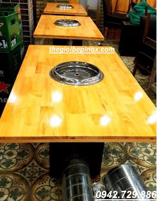 Nhận thi công hệ thống bàn nướng hút âm nhà hàng Hàn Quốc giá rẻ tại Bắc Ninh