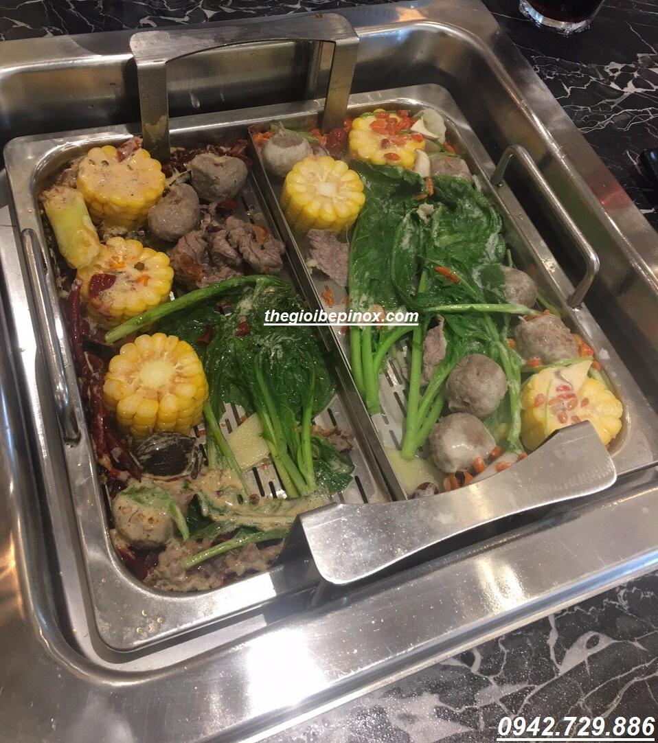 Bếp lẩu tự động lên xuống giúp thực khách không phải mò hay vớt đồ ăn I Bán nồi lẩu tự động lên xuống giá rẻ tại Hà Nội