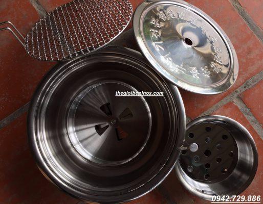 Xô đựng than hoa bếp nướng hút dương, bát than bếp nướng Hàn quốc, Bầu than nướng BBQ