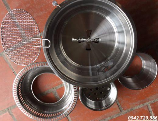 Bầu than bếp nướng hút âm giá rẻ I Xô chứa than bếp nướng hút âm