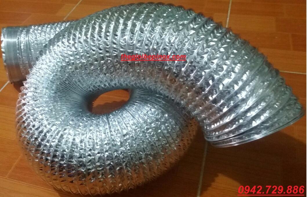 Thiết bị ống gió mềm chịu nhiệt độ cao giá rẻ / Ống bạc mềm giá rẻ nhất tại Hà Nội