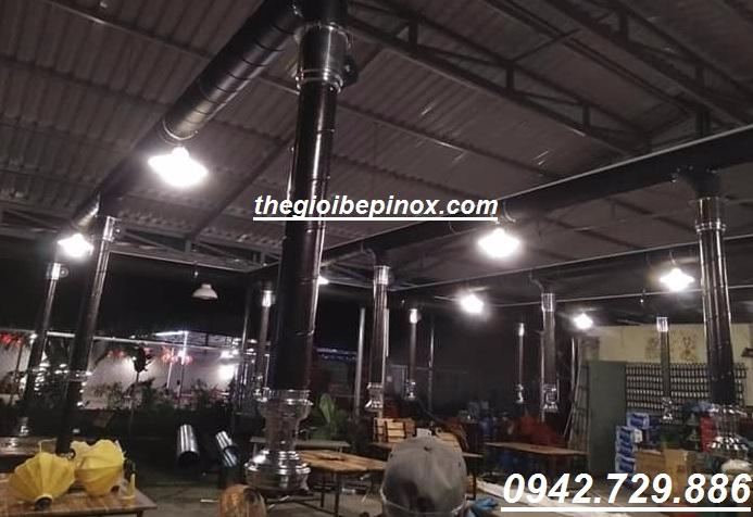 Nhận thi công lắp đặt trọn gói hệ thống hút khói nhà hàng lẩu nướng