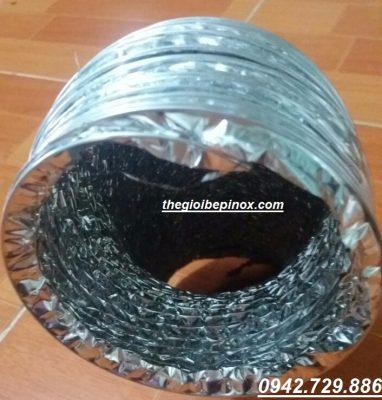 Ống gió bạc mềm chịu nhiệt D250 giá rẻ tại Hà Nội