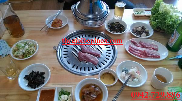 Thi công trọn gói hệ thống hút khói kiểu thả trần nhà hàng lẩu nướng Hàn Quốc