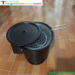 Bếp nướng than âm bàn có quạt thổi than kèm sạc pin
