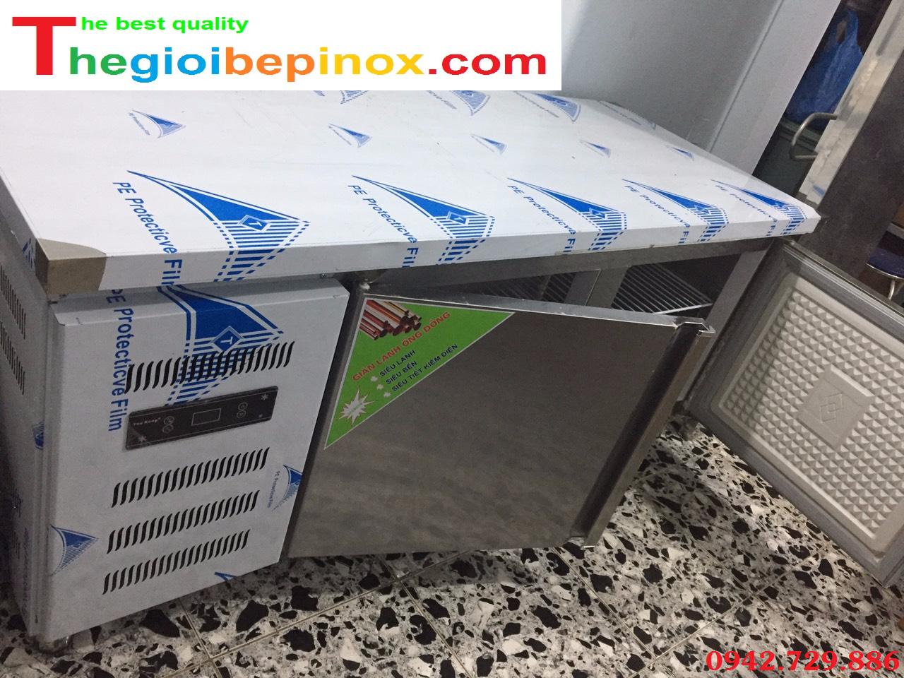 Giá bán bàn mát 2 cánh Inox cho nhà hàng, quán ăn tại Hà Nội