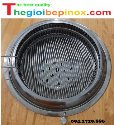 Vỉ nướng song ngang inox 304 cho bếp nướng hút âm