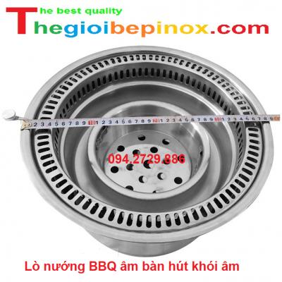 Lò nướng BBQ âm bàn hút khói âm giá rẻ nhất