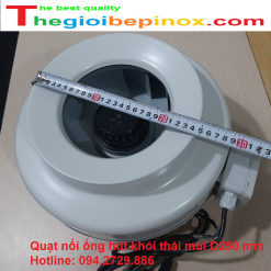 Quạt nối ống hút khói thải mùi D250mm giá rẻ nhất thị trường hiện nay