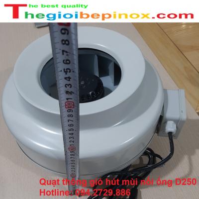 Quạt thông gió hút mùi nối ống D250 chất lượng - giá rẻ nhất