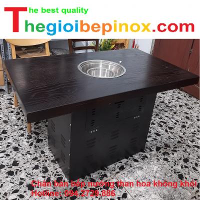 Chân bàn bếp nướng than hoa không khói giá rẻ ở Hà Nội