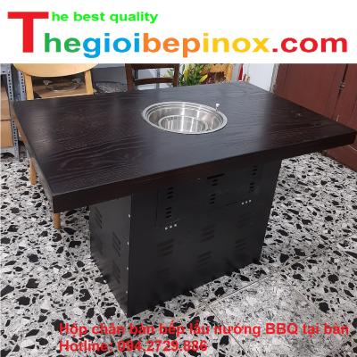 Hộp chân bàn bếp lẩu nướng BBQ tại bàn chất lượng, giá tốt ở Hà Nội