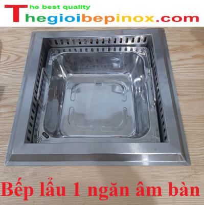 Bếp lẩu 1 ngăn âm bàn cho nhà hàng giá tốt nhất ở Hà Nội - HCM