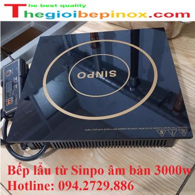 Bếp lẩu từ Sinpo âm bàn vuông 3000w chất lượng cao cho nhà hàng
