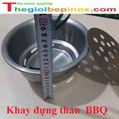 Khay đựng than nướng BBQ cho bếp nướng tại bàn Hàn Quốc