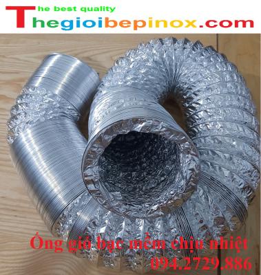 Ống gió bạc mềm co rút chịu nhiệt độ cao giá rẻ