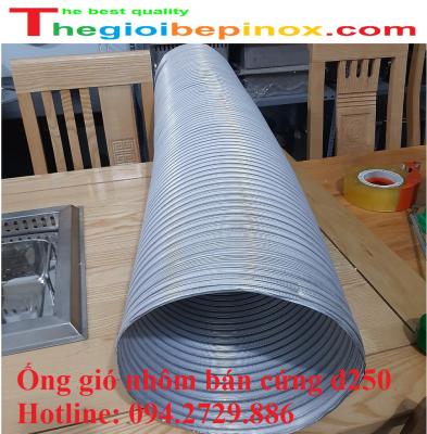 Ống gió nhôm bán cứng D250 chịu nhiệt độ cao giá rẻ