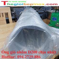 Ống gió nhôm d200 chịu nhiệt độ cao giá tốt nhất Hà Nội