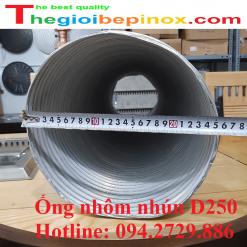 Ống nhôm nhún D250 - Ống gió mềm nhôm bán cứng D250