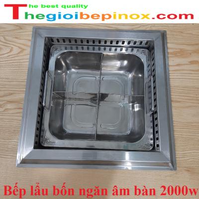 Bếp lẩu bốn ngăn âm bàn 2000w chất lượng cao giá rẻ