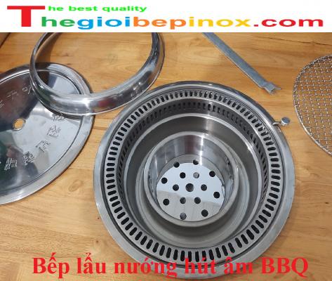 Bếp lẩu nướng hút khói âm bàn nhà hàng lẩu nướng BBQ Hàn Quốc