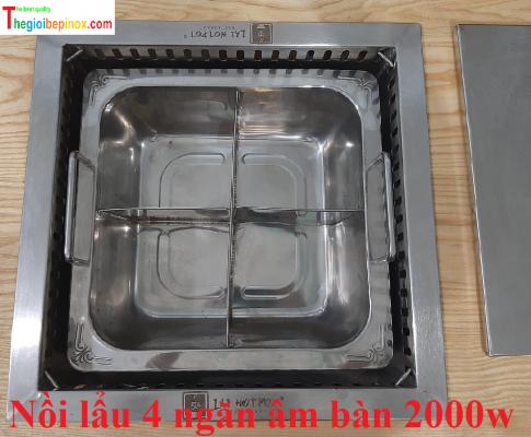 Nồi lẩu 4 ngăn 2000w cho nhà hàng giá rẻ nhất Hà Nội - HCM