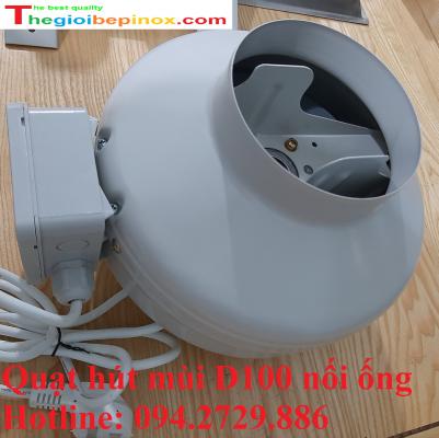 Quạt hút mùi D100 nối ống chất lượng cao