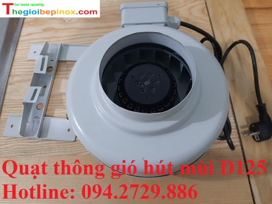 Quạt thông gió hút mùi D125 chất lượng giá tốt ở Hà Nội