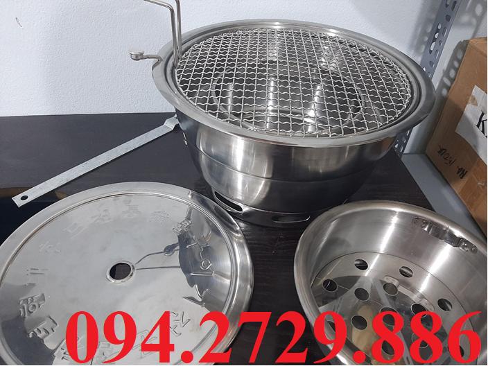 Bếp nướng than không khói âm bàn hút dương