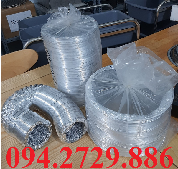 Cung cấp các loại ống bạc mềm - ống gió mềm D100, d125, d150, d200, d250, d300, d350 giá rẻ nhấy thị trường hiện nay