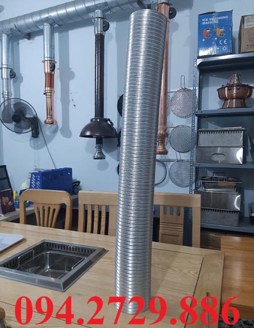 Cung cấp các loại ống nhôm nhún - ống gió mềm bán cứng chịu nhiệt độ cao giá rẻ ở hà nội