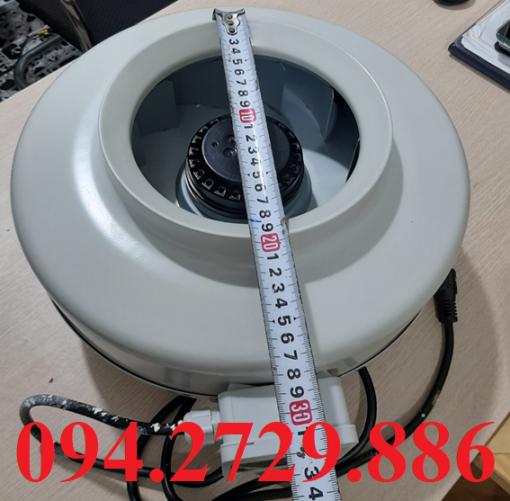 Kích thước đầu hút khói - khí - mùi của quạt thông gió nối ống D200 chất lượng tốt nhất