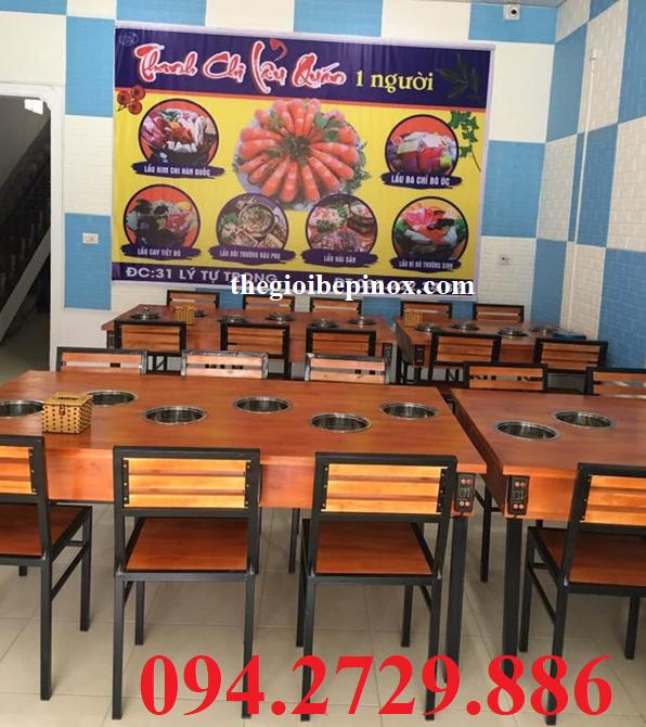 Bếp điện từ đơn ăn lẩu tại bàn 1 người ăn cho nhà hàng chuyên lẩu giá rẻ nhất TPHCM. Ship hàng Toàn Quốc