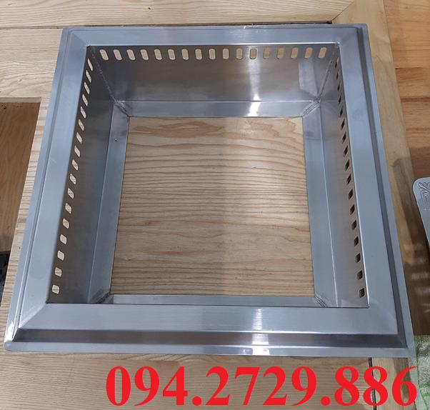 Khung đỡ bếp từ 3000w và nồi lẩu inox 2 ngăn bằng inox sáng bóng, siêu bền