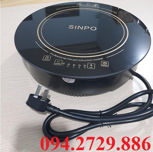 Bếp từ lẩu tròn Sinpo 2000w có bàn phím liền trên mặt bếp chất lượng cao giá rẻ nhất TP HCM. Bảo hành 12 tháng