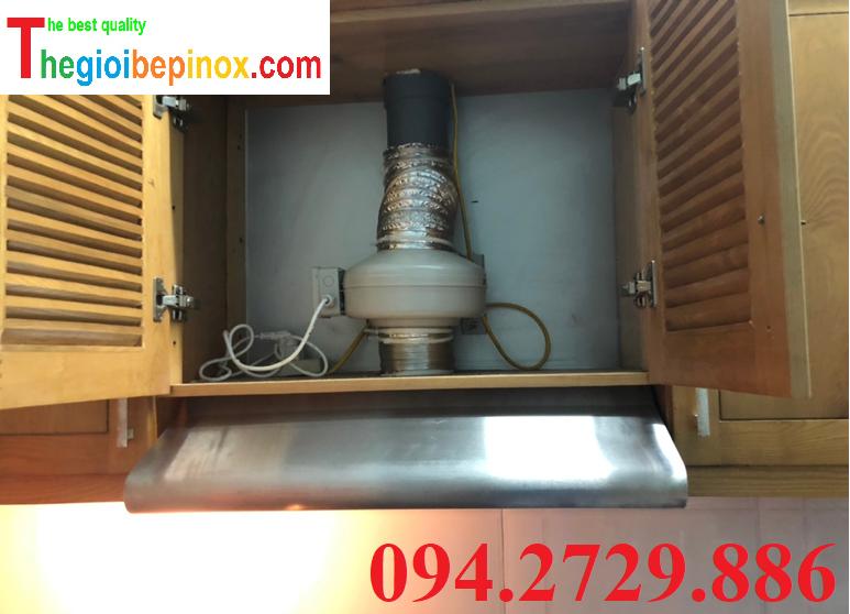 Quạt nối ống D125 hút mùi bếp nấu ăn gia đình giá rẻ nhất Hà Nội. Bảo hành 12 tháng. Ship Toàn Quốc